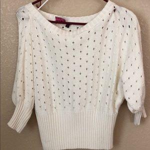 Beautiful white summer sweater